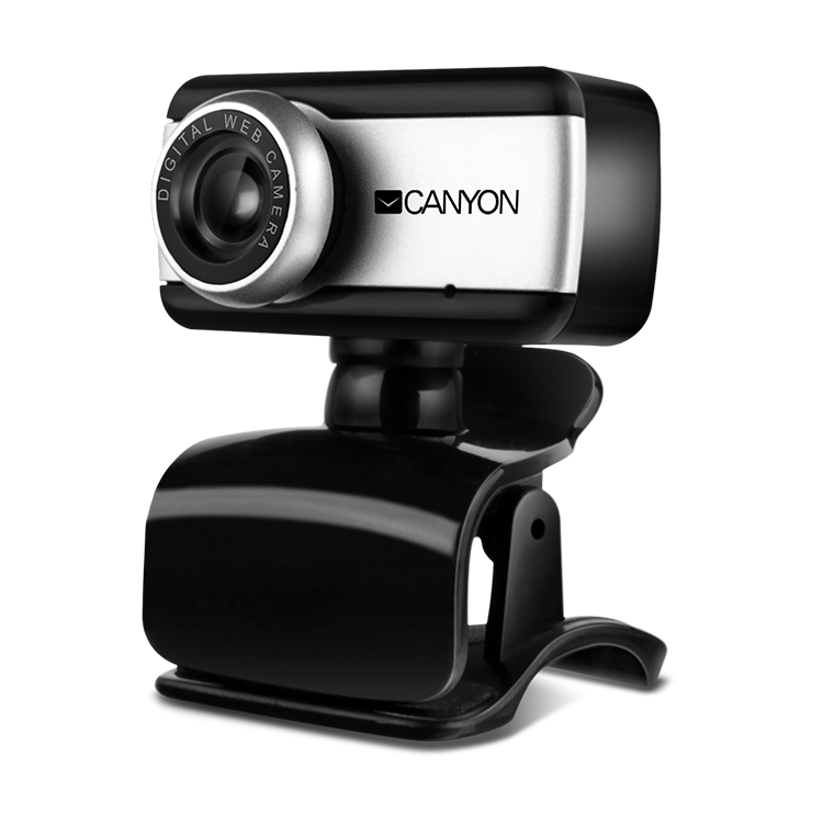 Web Camera CANYON CNE-HWC1 Enhanced 0.3 Megapixels resolutions webcam with USB 2.0 connector, 360 rotary view scape, sensitive microphone, multifunctional pedestal and compatible with Windows OS and MAC OS