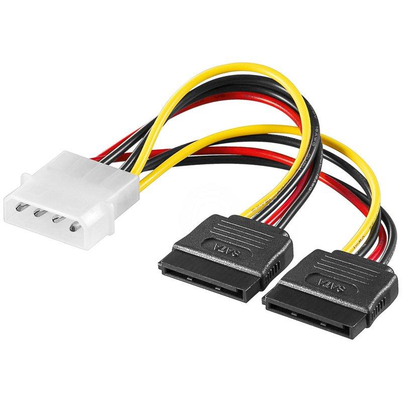 Cable AKYGA AK-CA-16 Power cable Molex/2xSATA 15cm