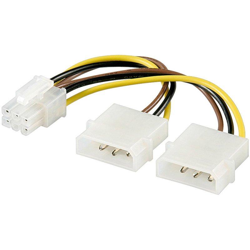 Cable AKYGA AK-CA-13 Power cable 2xMolex/PCI-Express-6pin Akyga AK-CA-13 15cm