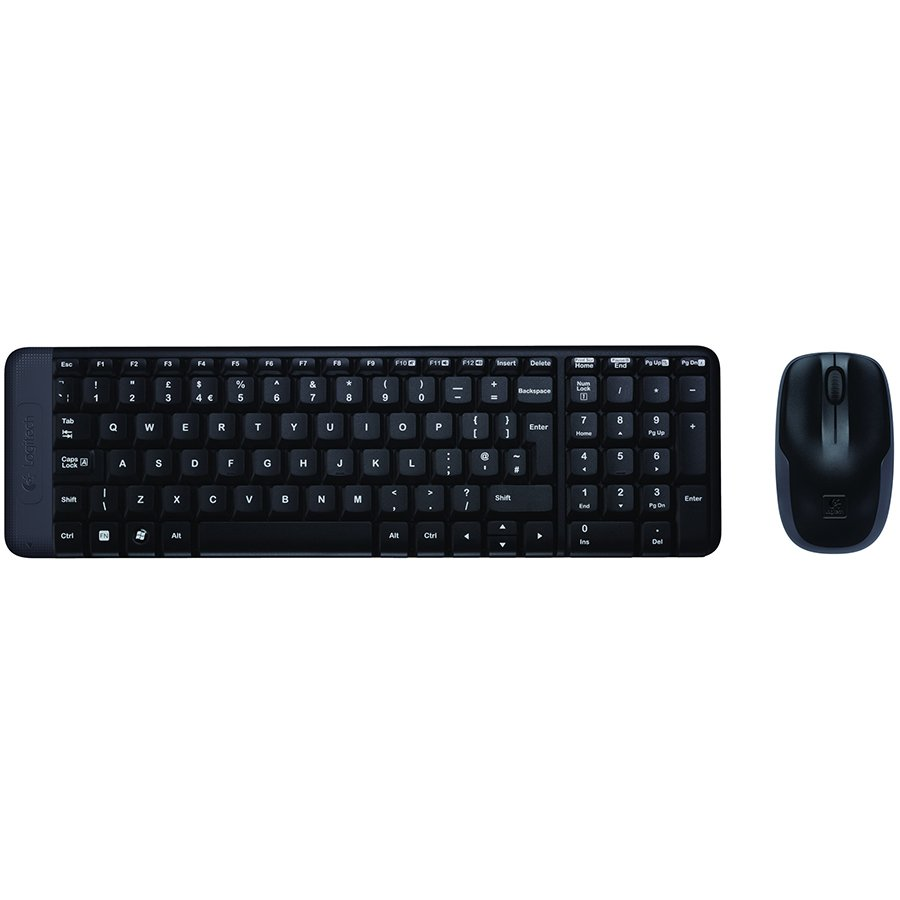 Input Devices - Keyboard Box LOGITECH 920-003168 LOGITECH Wireless Desktop MK220 - EER - US International