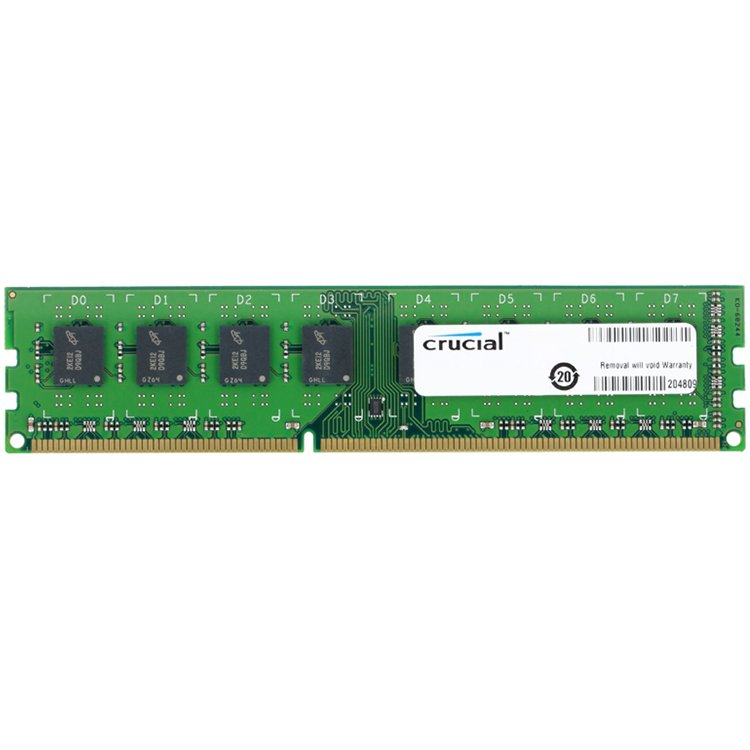 Memory ( Desktop ) CRUCIAL CT102464BD160B Crucial RAM 8GB DDR3L 1600 MT/s (PC3L-12800) CL11 Unbuffered UDIMM 240pin 1.35V/1.5V