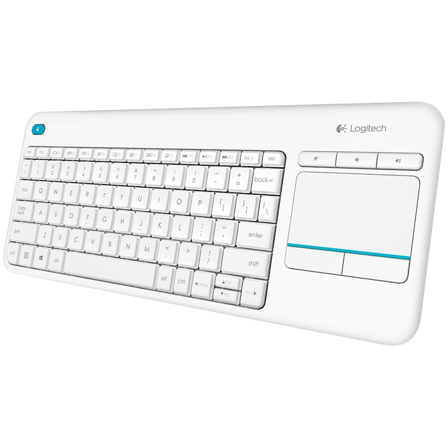 Input Devices - Keyboard Box LOGITECH 920-007146 LOGITECH Wireless Touch Keyboard K400 Plus - INTNL - US International layout - White