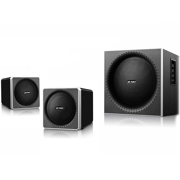 Multimedia - Speaker FENDA A150X Multimedia Bluetooth Speakers F&D A150X (2.1 Channel Surround, 42W, 200-20KHz, Subwoofer: 50-118Hz, Bluetooth 4.0, NFC, USB/SD card reader, FM, digital, Remote Control, Wooden, Black)