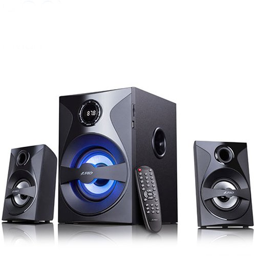 Multimedia - Speaker FENDA F380X Multimedia Bluetooth Speakers F&D F380X (2.1 Channel Surround, 54W, 110Hz-20KHz, Subwoofer: 30-118Hz, Bluetooth 4.0, NFC, USB/SD card reader, FM digital, LED display, Remote control, Wooden, Black