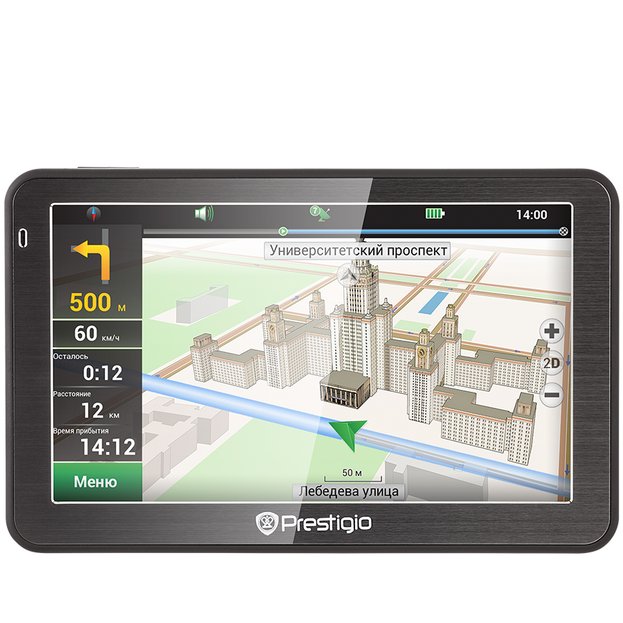"GPS Navigator PRESTIGIO PGPS5058EU20GBNV Prestigio GeoVision 5058 (5.0"", TFT, 480х272, Win CE 6.0, CPU MSTAR 2531A 800 MHz, 128 MB RAM, 4 GB internal, 16 GB microSD card, FM, 950 mAh, Black, Metal frame, Navitel navigation software, preinstalled maps of F"