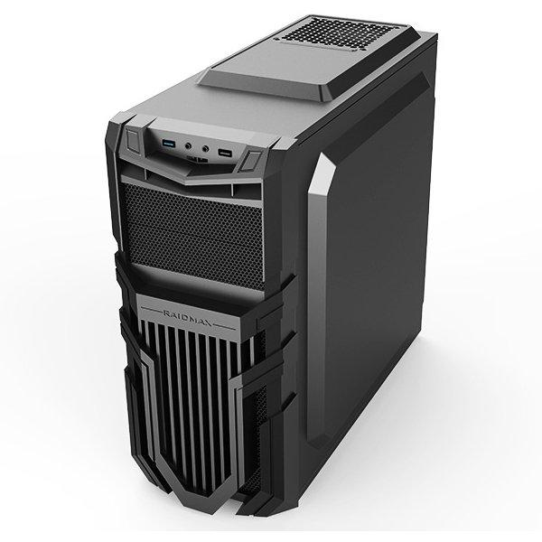 "PC Chassis RAIDMAX VORTEX_V5 Chassis Vortex_V5 Middle Tower, ATX, 7 slots, 2 X 5.25"", 3 X 3.5"" H.D., 3 X 2.5"" SSD, 1 X USB2.0 / 2 x HDAUDIO / 1 x USB3.0, PSU Optional,2 X 120mm Front LED fan/opt./, 1 x 120mm Back Black FAN, 1 X 120mm top LED fan /opt./, B"