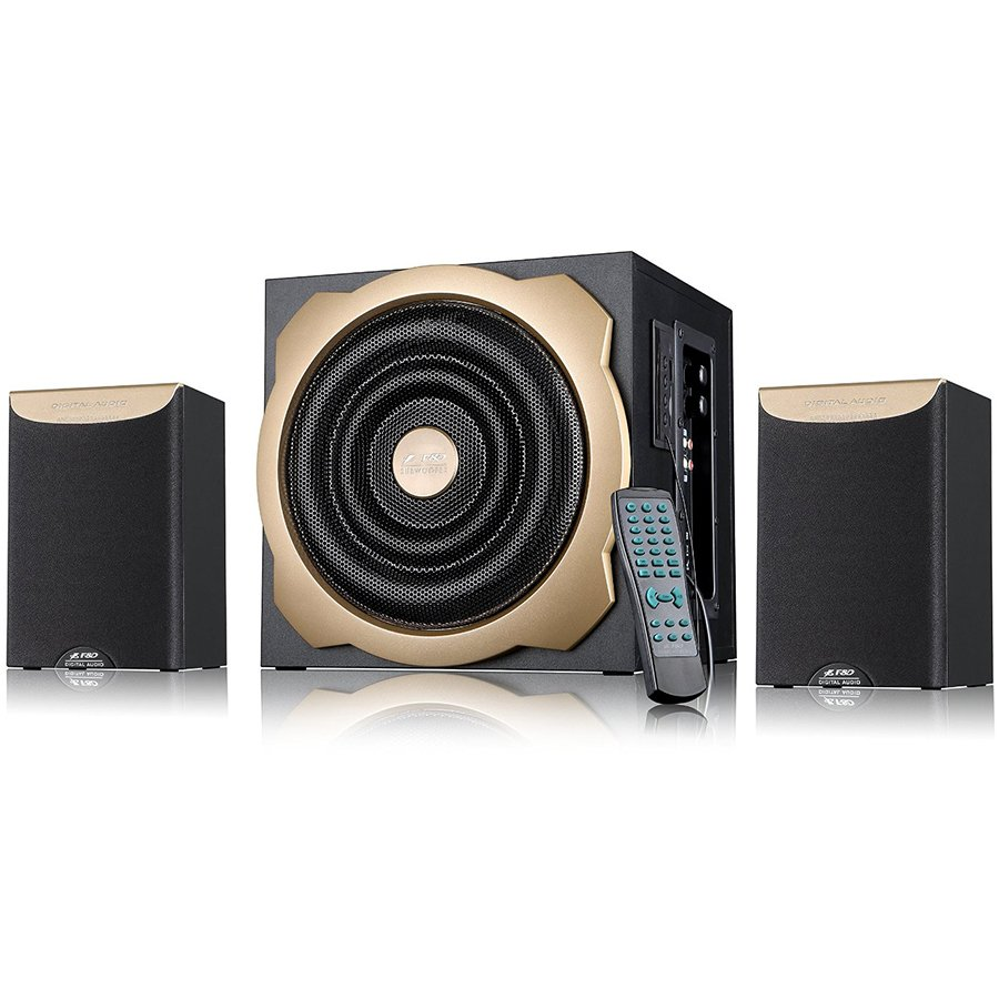 "Multimedia - Speaker FENDA A520U Multimedia - Speaker F&D A520U 52W (20W+16w*2),4"" full range driver for satellites and 6.5"" bass driver for subwoofer, Plug & play USB/CARD (SD/MMC/MS) reader, Full function remote control"