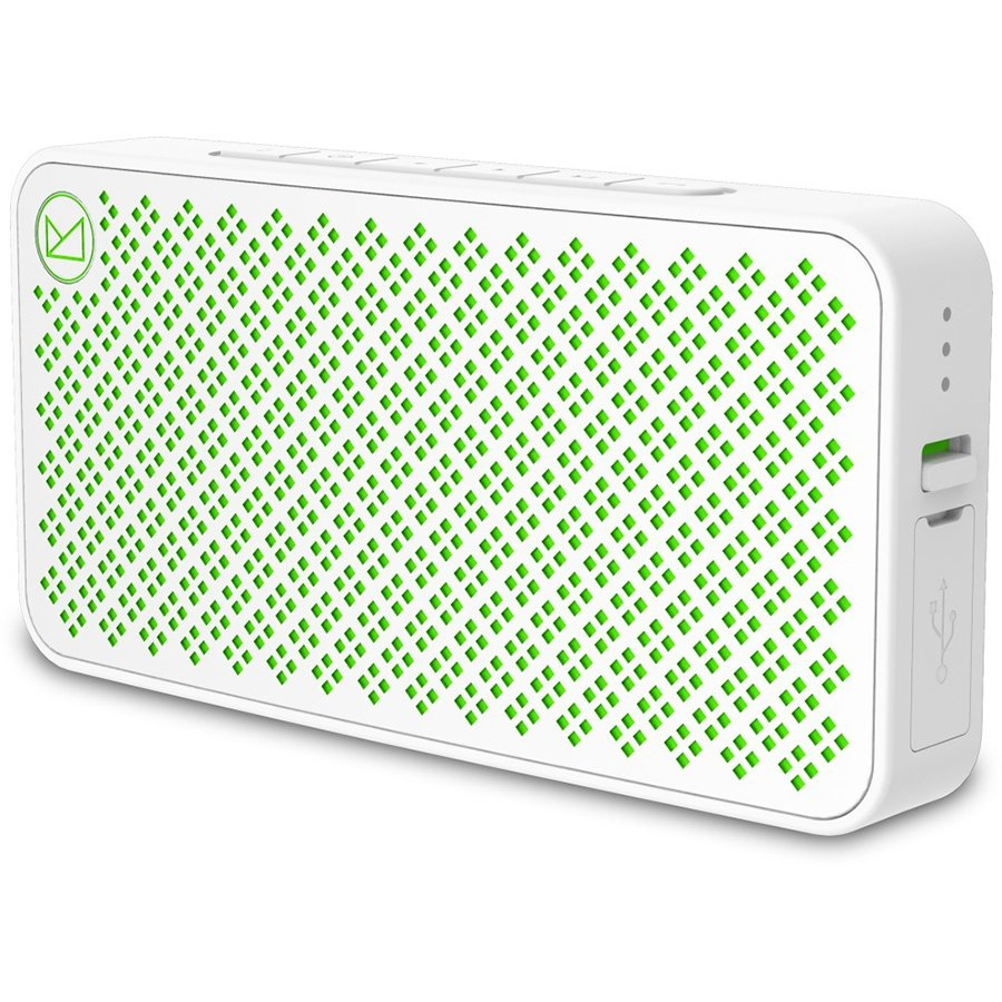 "Multimedia - Speaker FENDA W30_WHITE Multimedia - Speaker F&D W30 5W(2.5W*2), 1.5"" Neodymium driver, Bluetooth V4.0, 3.5mm Aux input, Battery allows over 5 hours of play, Low battery and charging indication, White"