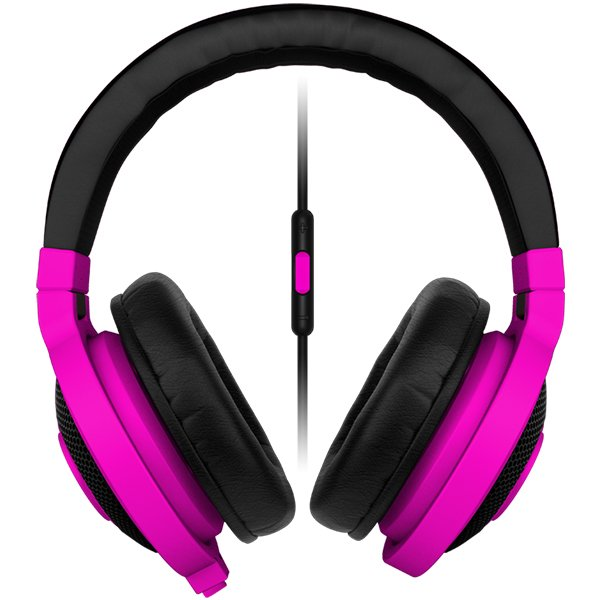 Multimedia - Headset RAZER RZ04-01400500-R3M1 Razer Kraken Mobile neon PURPLE - Mobile Analog Music & Gaming Headphones,Drivers: 40 mm, with neodymium magnets,Inner ear cup diameter: 50 mm / 0.16 ft,Connector: Analog 3.5 mm headphone jack,Cable length: 1.