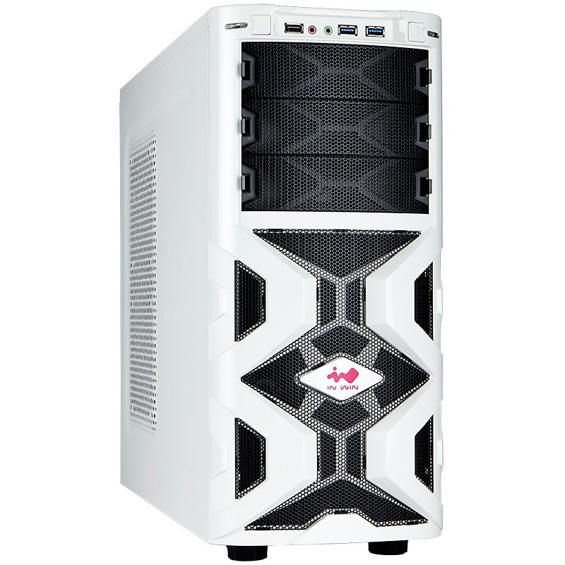 "PC Chassis IN WIN MANA136.WHITE Chassis In Win MANA136 Mid Tower ATX SECC Steel, 5.25""x3, 3.5""x6(Supports SATA HDD EZ-Swap Modulex2),USB 3.0x2,USB 2.0X1, HD/AC' 97 Audio, 12cm LED Front Fan x1, 12cm Rear Fan x1, Water-Cooling Hole Ready, White"