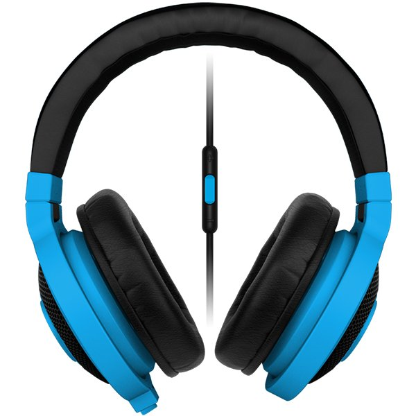 Multimedia - Headset RAZER RZ04-01400600-R3M1 Razer Kraken Mobile neon BLUE - Mobile Analog Music & Gaming Headphones,Drivers: 40 mm, with neodymium magnets,Inner ear cup diameter: 50 mm / 0.16 ft,Connector: Analog 3.5 mm headphone jack,Cable length: 1.3