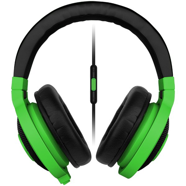Multimedia - Headset RAZER RZ04-01400100-R3M1 Razer Kraken Mobile Neon GREEN - Mobile Analog Music & Gaming Headphones,Drivers: 40 mm, with neodymium magnets,Inner ear cup diameter: 50 mm / 0.16 ft,Connector: Analog 3.5 mm headphone jack,Cable length: 1.3