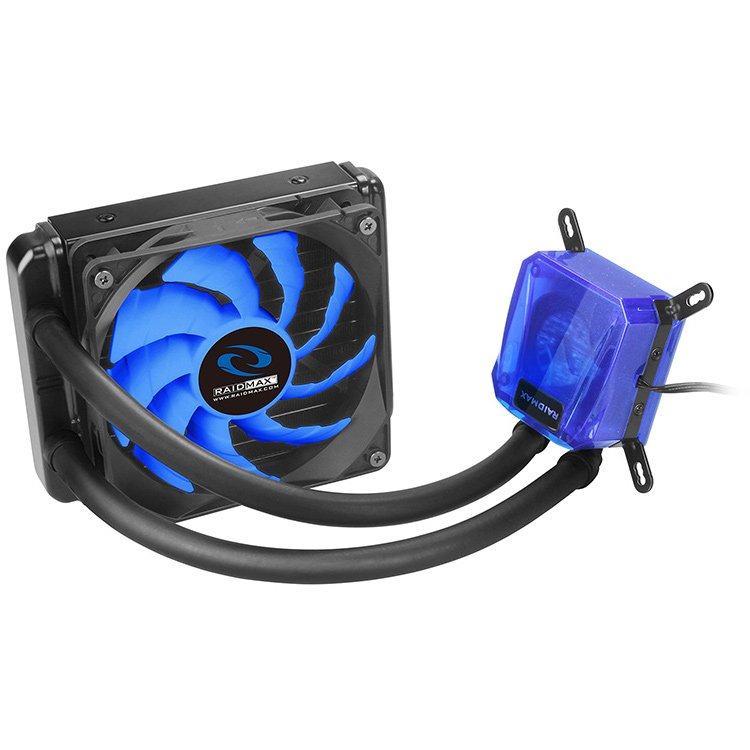 Cooling System RAIDMAX COBRA_120 Raidmax Cobra Series 120, Compatible with Intel (LGA1150/1155/1156, 1366, 2011/ 2011-3) and AMD (AM2/AM3, FM1/FM2), 140mm radiator and single SP120, 500~1800 RPM, < 21.2dBA (Max.), Ceramic Bearing, Aluminum