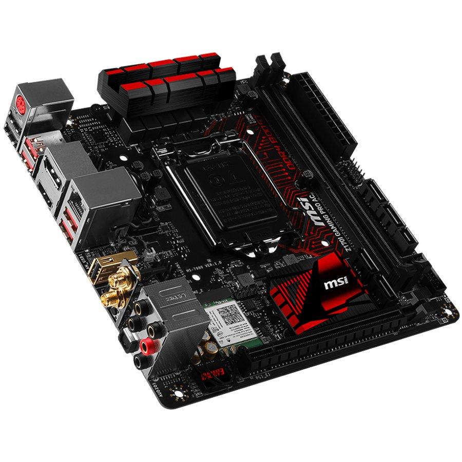 Main Board Desktop MSI Z170I_GAMING_PRO_AC MSI Main Board Desktop Z170 (S1151,2xDDR4,PCI-Ex16,PCI-Ex1, USB3.1,USB2.0,SATA III,M2,HDMI,GLAN, WiFi) miniATX Retail