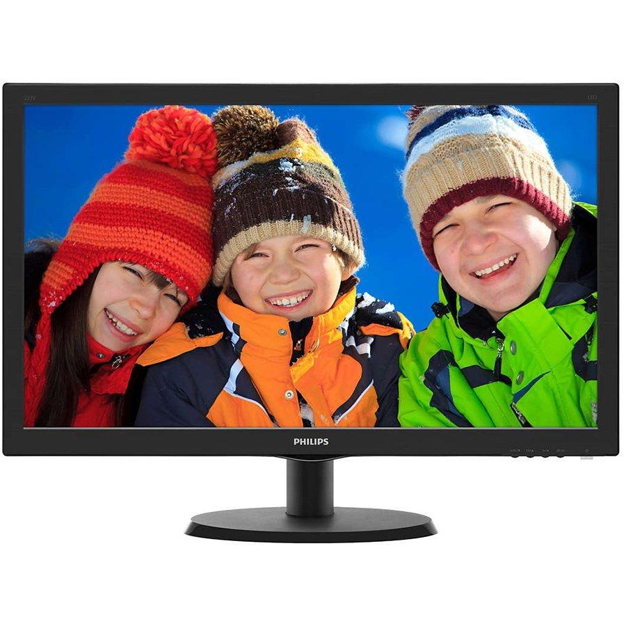 Monitor LED PHILIPS 240V5QDSB/00 PHILIPS Monitor LED V-Line 240V5QDSB/00 (23.8'', ADS-IPS, 16.9, 1920x1080, 5ms, 20M:1, 250 cd/m2, VGA, DVI, HDMI, VESA) Black, 2y