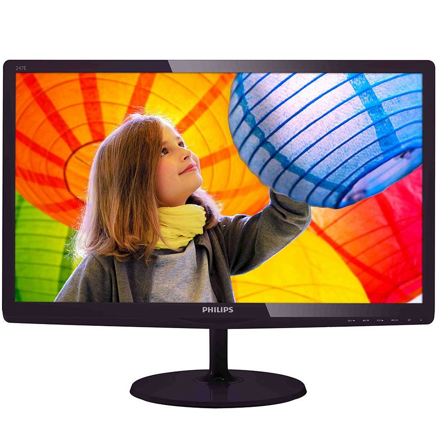 Monitor LED PHILIPS 247E6QDAD/00 PHILIPS Monitor LED E-Line 247E6QDAD (23.6'', ADS-IPS, 16.9, 1920x1080, 5ms, 20M:1, 250 cd/m2, VGA, DVI, HDMI, Speakers) Black cherry, 3y