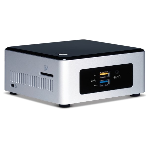 "PC Barebone INTEL BOXNUC5PPYH Intel NUC kit, Intel Pentium N3700 (2M Cache, up to 2.4 GHz), 2.5"" HDD/SSD Support, uCFF, 1x DDR3L 1333/1600, 1.35V SODIMM, 8Gb, VGA Intel HD Graphics, VGA (HDB15); HDMI 1.4b,  GbE, Intel Wireless-AC 3165 + BT 4.0"