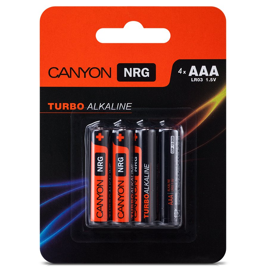 Power Battery CANYON ALKAAA4 Canyon NRG alkaline battery AAA, 4pcs/pack