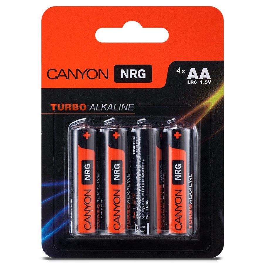 Power Battery CANYON ALKAA4 Canyon NRG alkaline battery AA, 4pcs/pack