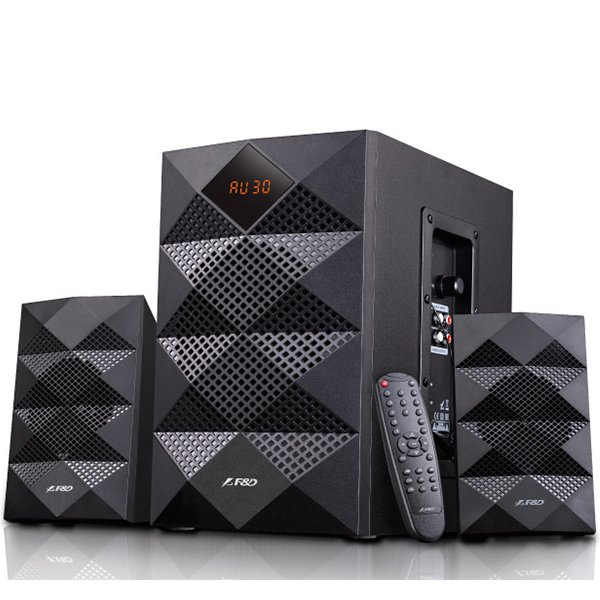 Multimedia - Speaker FENDA A180X Multimedia Bluetooth Speakers F&D A180X (2.1 Channel Surround, 42W, 200-20KHz, Subwoofer: 50-118Hz, Bluetooth 4.0, USB card reader, FM, digital, Remote Control, Wooden, Black)