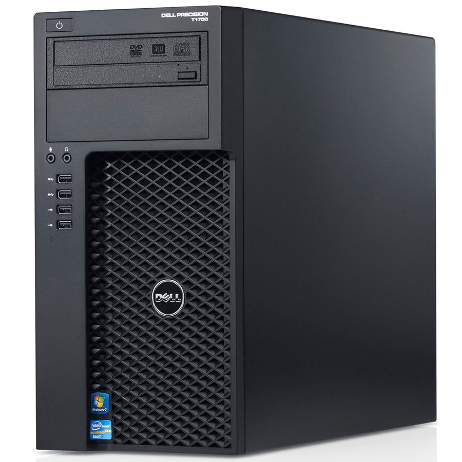 Desktop Computer DELL CA357PT1700MUFWSVID_WIN-14 Dell Precision T1700, Intel Xeon E3-1220 v3 3.10GHz, 16GB (2x8GB) DDR3, 500GB SATA HDD, 16x DVD+/-RW, NO VGA, USB Mouse, KB212-B USB Keyboard, 290W PSU, Intrusion Switch, Win7 Pro (64Bit Windows 8.1 Pro Lic