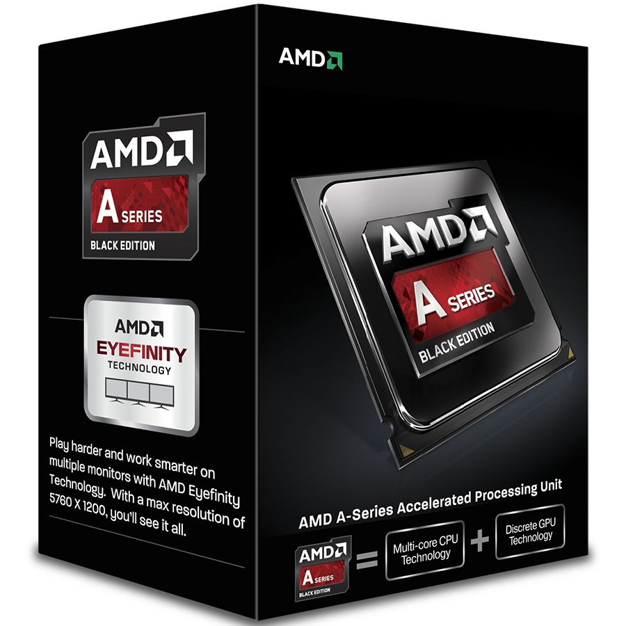 CPU Desktop AMD AD747KYBJCBOX AMD CPU Kaveri A6-Series X2 7470K (3.7/4.0GHz Boost,1MB,65W,FM2+) box, Black Edition, Radeon TM R5 Series