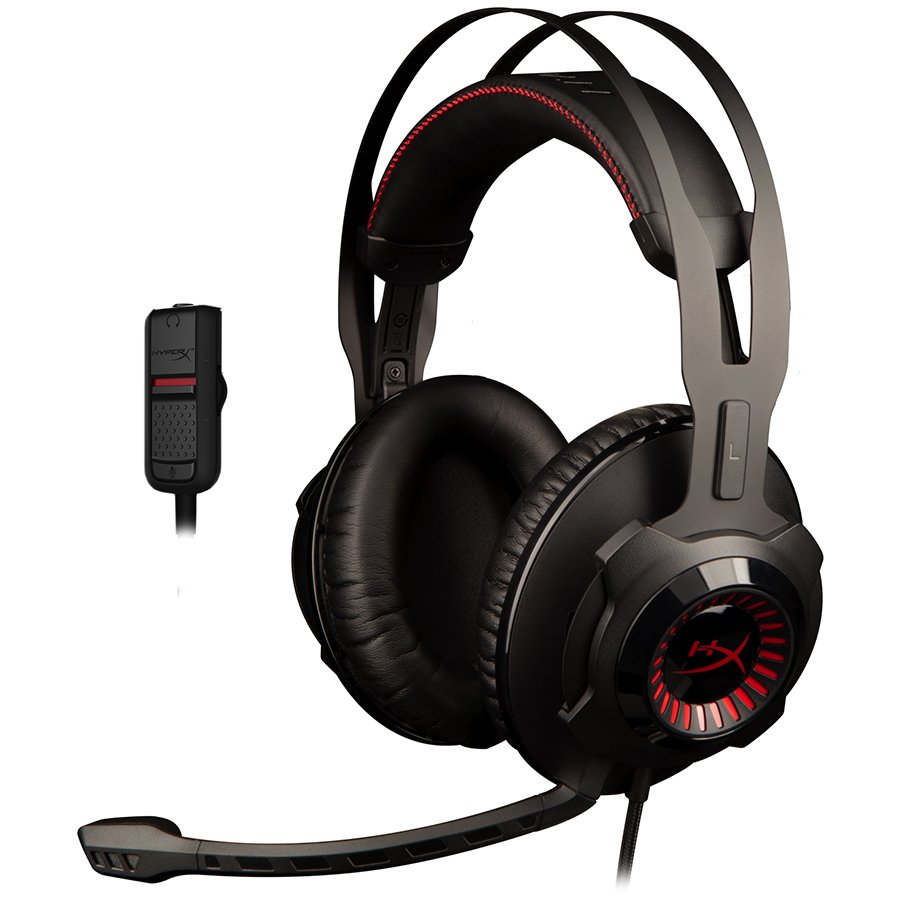 Multimedia - Headset KINGSTON HX-HSCR-BK/EM Kingston HyperX Gaming Headset, Cloud Revolver, Black, 50mm drivers, 3.5mm jack, solid steel frame, Audio control box, headset (1m) + audio control box (2m), EAN: 740617250435