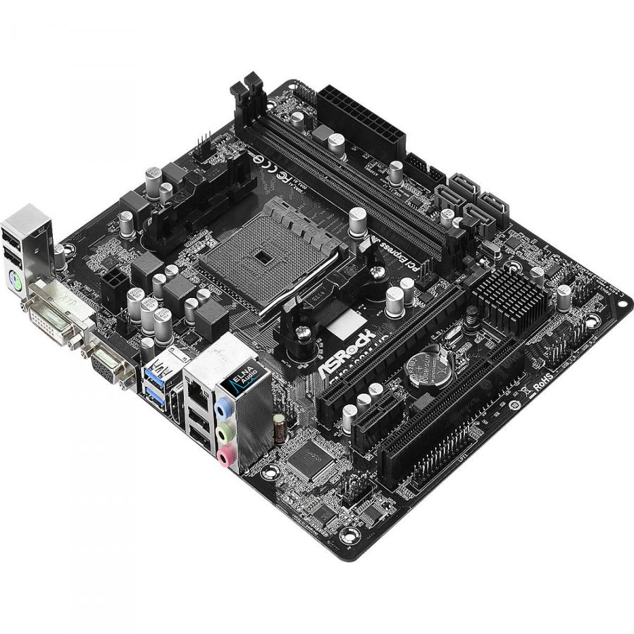 Main Board Desktop ASROCK FM2A88M_HD_PLUS_R3.0 Socket FM2+, 2xDDR3 2400+, 1 PCIe 3.0 x16, 1 PCI 2.0 x1, 1 PCI, DVI-D, D-Sub, HDMI, 5.1 CH HD Audio, 4 SATA3, 4 USB 3.0, mATX
