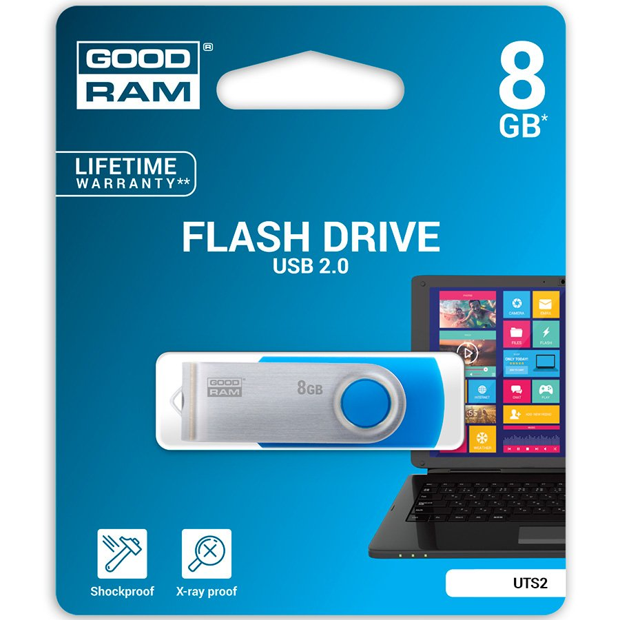 Memory ( USB flash ) GOODRAM UTS2-0080B0R11 GOODRAM 8GB UTS2 BLUE USB 2.0