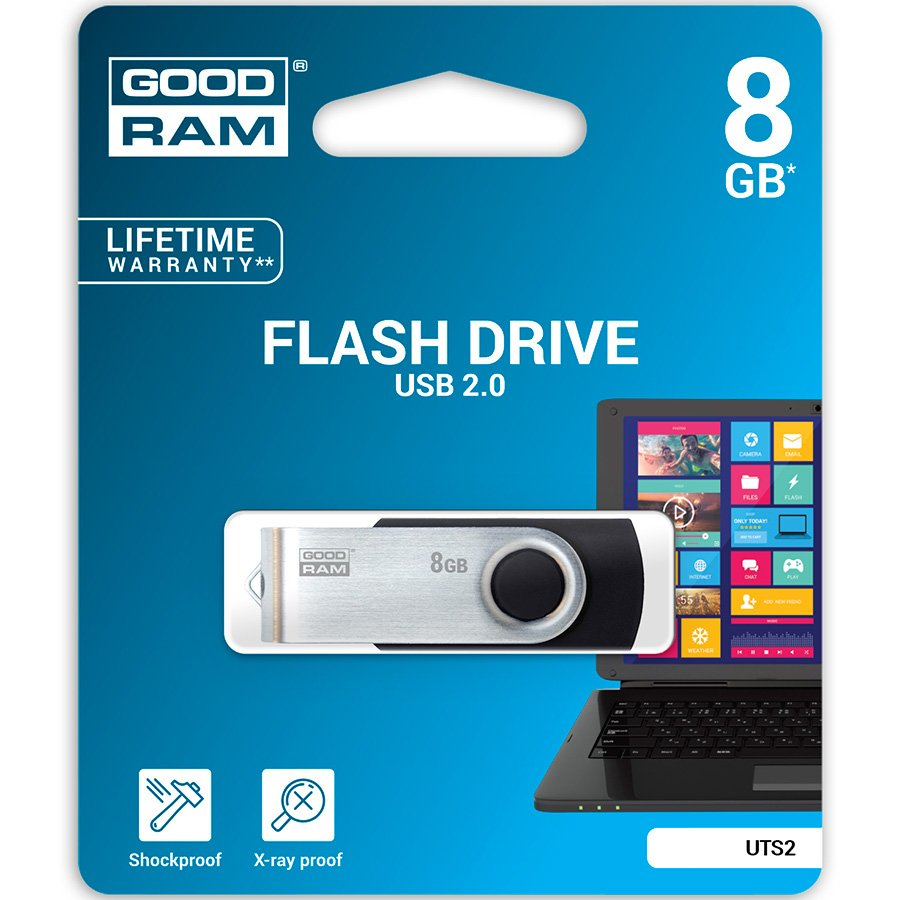 Memory ( USB flash ) GOODRAM UTS2-0080K0R11 GOODRAM  8GB UTS2 BLACK USB 2.0