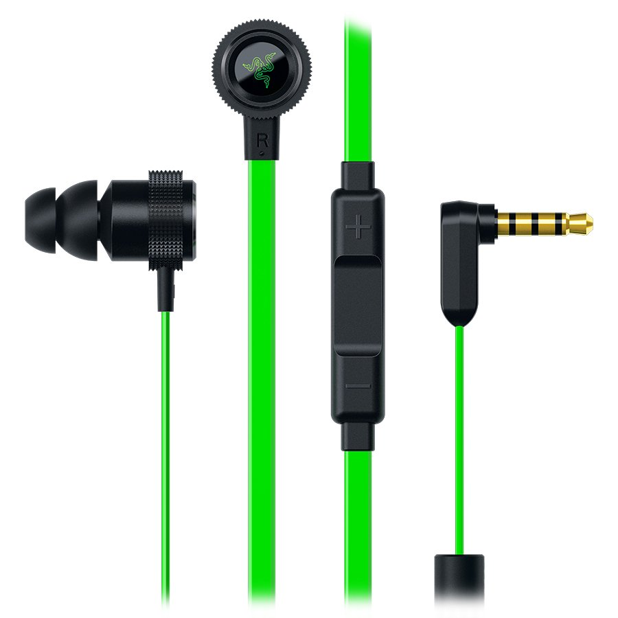Multimedia - Headset RAZER RZ04-01730100-R3G1 Hammerhead Pro V2 Analog Gaming & Music In-Ear Headphones + mic,In-line microphone with 3 Quick Action Control buttons for iOS and Android devices , flat-style cables,10 mm extra-large dynamic drivers,