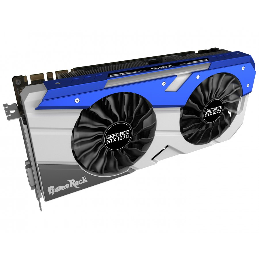 Video Card PALIT 4710636269066 VC Palit nVidia GTX1070 GameRock 8GB GDDR5X ,256bit , Dual DVI,HDMI,DP part# NE51070T15P2G