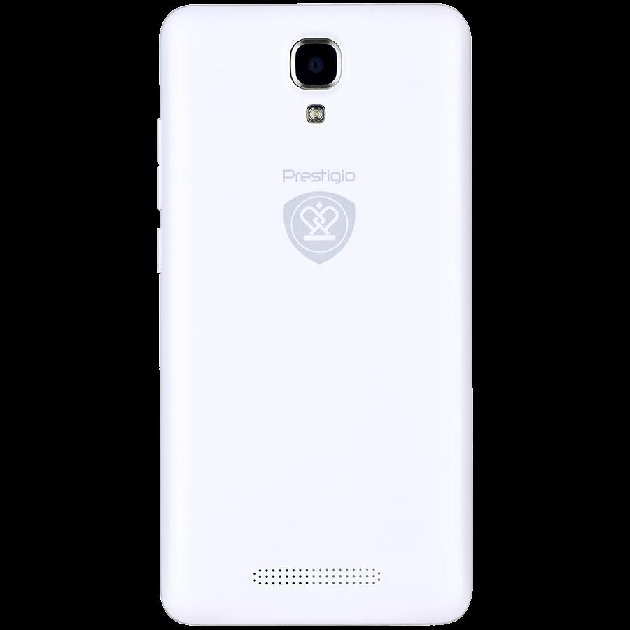 "Smartphone PRESTIGIO PSP5509DUOWHITE Prestigio MUZE K5 5.0"" HD IPS LTE-4G, Dual sim, Android 5.1, Quad-Core 1,3GHz, 720*1280, 8 GB eMMC, 1 GB RAM, 2.0 FF + 8.0Mpx, 2400mAh, White"