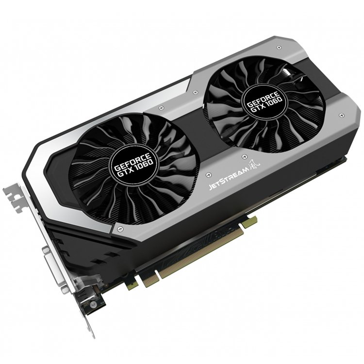 Video Card PALIT 4710636269189 VC Palit nVidia GTX1060 Jetstream 6GB GDDR5, 192bit ,DVI, HDMI, DPx3 part# NE51060015J9J