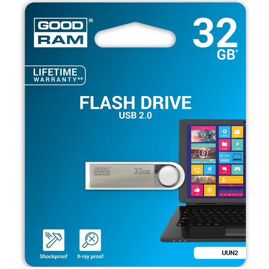 Memory ( USB flash ) GOODRAM UUN2-0320S0R11 Good Ram 32Gb USB 2.0 compatible with USB 1.1