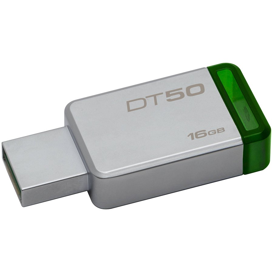 Memory ( USB flash ) KINGSTON DT50/16GB Kingston  16GB USB 3.0 DataTraveler 50 (Metal/Green), EAN: '740617255638