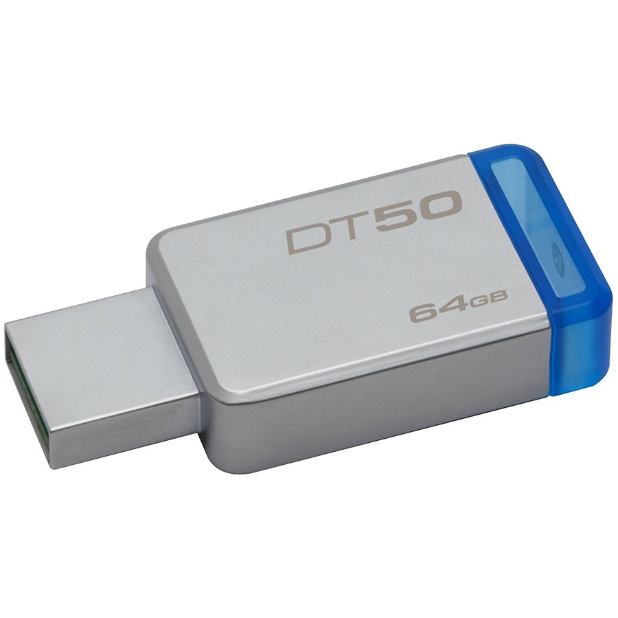 Memory ( USB flash ) KINGSTON DT50/64GB Kingston  64GB USB 3.0 DataTraveler 50 (Metal/Blue), EAN: '740617255751