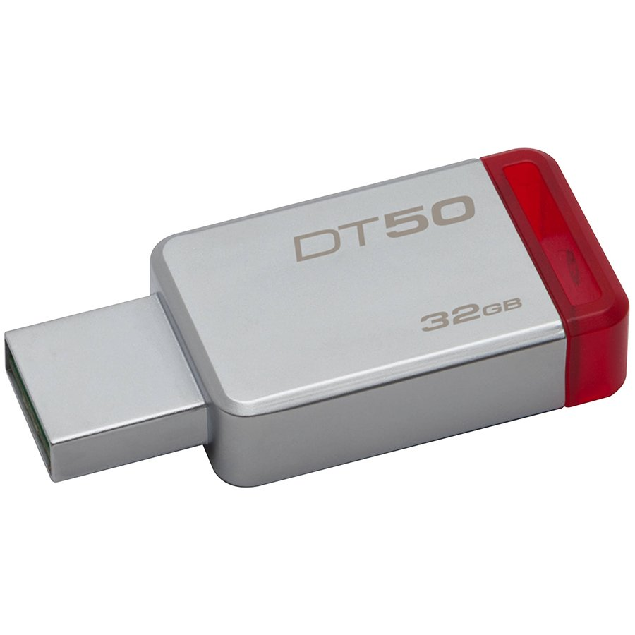 Memory ( USB flash ) KINGSTON DT50/32GB Kingston  32GB USB 3.0 DataTraveler 50 (Metal/Red), EAN: '740617255690