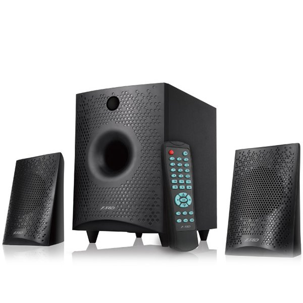 Multimedia - Speaker FENDA F210X Multimedia Bluetooth Speakers F&D F210X (2.1 Channel Surround, 15W, 130Hz-20KHz, Subwoofer: 30Hz-130Hz, Bluetooth 4.0, USB/SD card reader, FM, digital, LED display, Wooden, Black