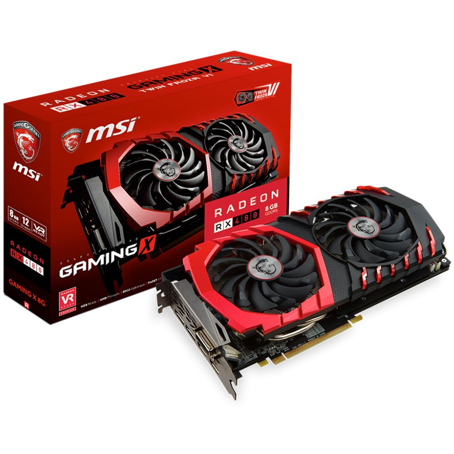 Video Card MSI RADEON_RX_480_GAMINGX_8G MSI Video Card Radeon RX 480 Gaming X GDDR5 8GB/256bit, PCI-E 3.0 x16,2DP, 2xHDMI, DVI-D, Retail