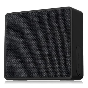 "Multimedia - Speaker FENDA W5 Multimedia Bluetooth Speakers F&D W5 - Power output 3W, 1.5"" inch driver and passive radiator, Bluetooth 4.0, 360 degree sound field, changeable colorful cover, micro SD card, 3.5mm Aux input, Li-ion battery 1000mA, Black"