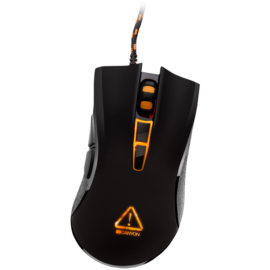 Gaming Accessories CANYON CND-SGM3 Optical gaming mouse, adjustable DPI setting  800/1600/2400/3500, LED backlight, Black