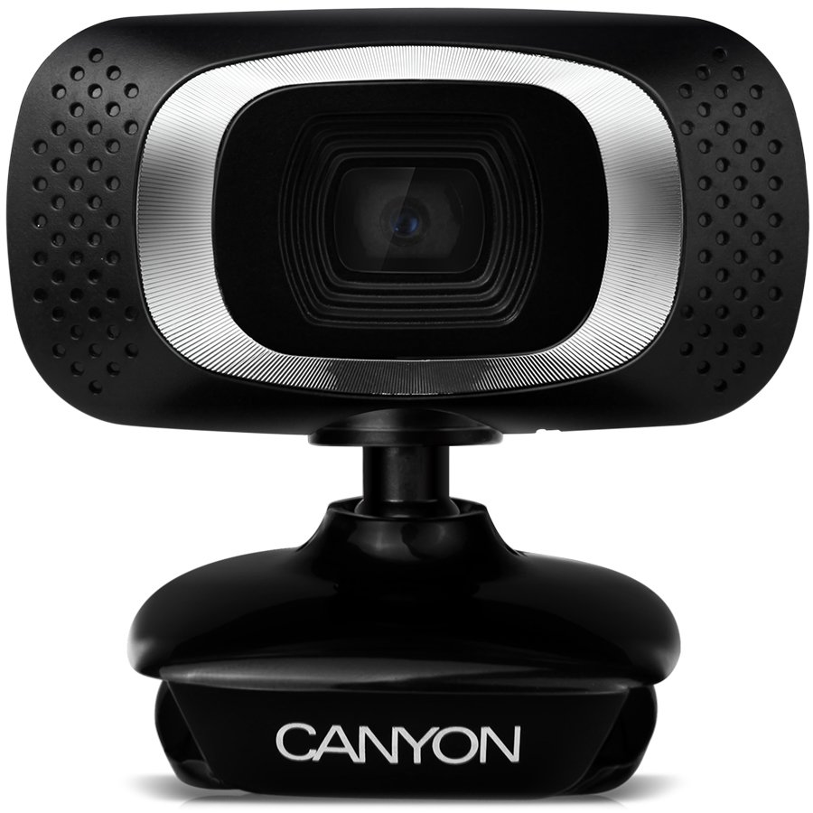 Web Camera CANYON CNE-CWC3 1080P Full HD webcam with USB2.0. connector, 360° rotary view scope, 2.0Mega pixels