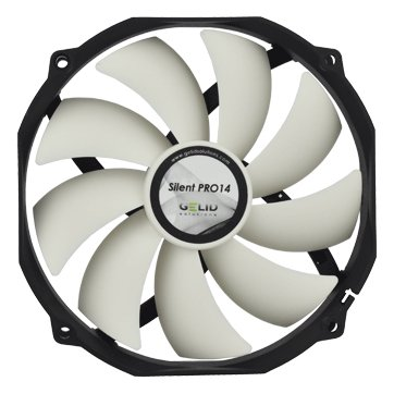 Cooling System GELID SOLUTIONS FN-PX14-P-15 GELID Silent PRO 14 140mm (120mm compatible) PWM Case Fan without Clicking Noise PWM