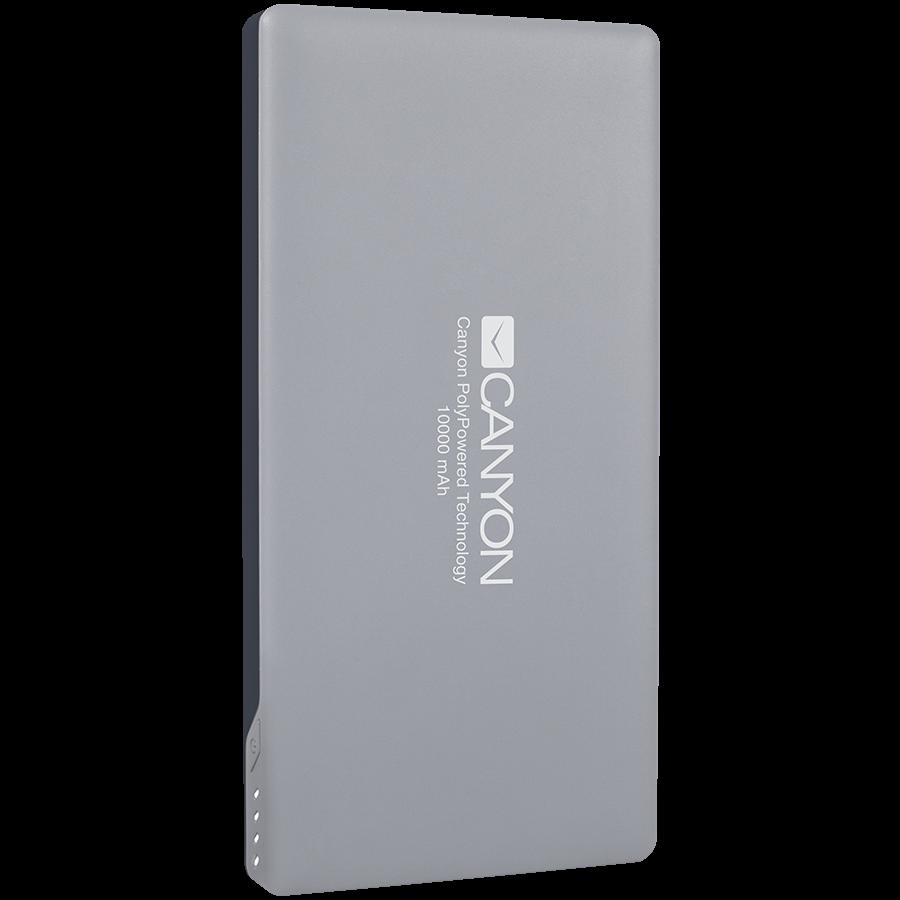 Power Bank CANYON CNS-TPBP10DG Power bank 10000mAh (Color: Dark Gray), bulit in Lithium Polymer Battery