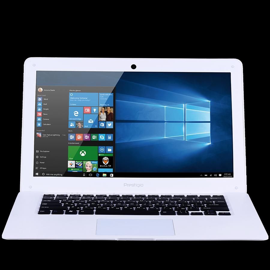 "PC Notebook Consumer PRESTIGIO PSB141A03BFW_MW_CIS Prestigio SmartBook 141A03 (14.1"" TN 1366*768, Intel Atom Z3735F, 2GB+32GB, camera 720P,10000 mAh,OS Windows 10 Home, BT, WI-FI, USB 2.0*2, mini HDMI,  micro SD support up to 128 GB, keyboard EN/RU) White"