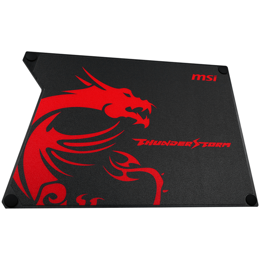 Mouse Pad MSI THUNDERSTORM_GAMING_MOUSEPAD MSI Mouse PAD Thunderstorm Aluminum Gaming 320mmX225mmX2mm