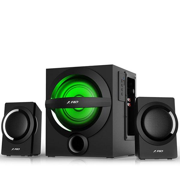 Multimedia - Speaker FENDA A140X Multimedia Bluetooth Speakers F&D A140X (2.1 Channel Surround, 12Wx2+13W, 160Hz~20kHz, Subwoofer: 45Hz~ 105Hz, Bluetooth 4.0, USB card reader, FM, digital, Remote Control, Wooden, Black)