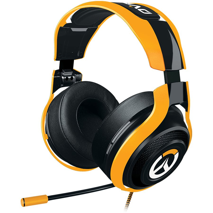 Multimedia - Headset RAZER RZ04-01920100-R3M1 Overwatch Razer ManO'War Tournament Ed. Analog Gaming Headset,Powerful drivers and sound isolation for the highest-quality gaming audio experience,In-line controls and fully retractable microphone for easy acc