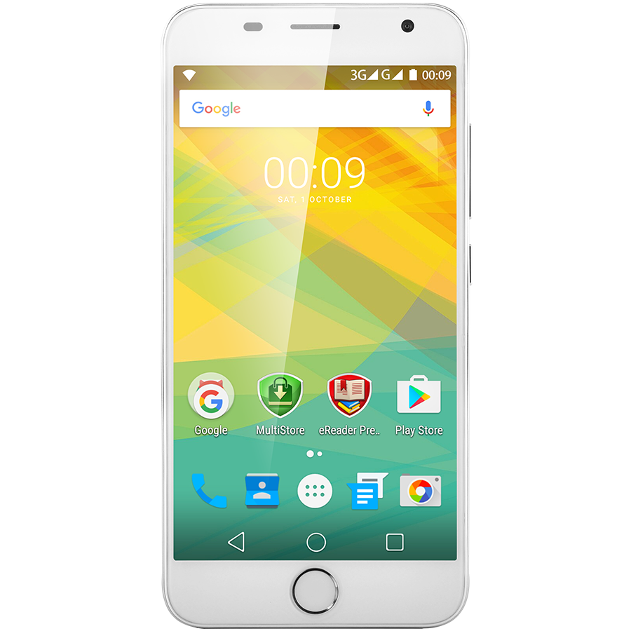 "Smartphone PRESTIGIO PSP7501DUOSILVER Prestigio Grace R7, PSP7501DUO, fingerprint scanner, dual SIM, 3G, 5.0"" (720*1280) IPS 2.5D display, Android 6.0 Marshmallow, quad core 1.3GHz, 2GB RAM + 16GB eMMC, 2.0MP front +13.0MP rear camera with triple-LED flas"